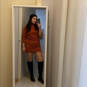 Zara Brick turtleneck dress